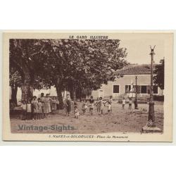 30114 Nages-Et-Solorgues / France: Place Du Monument (Vintage...