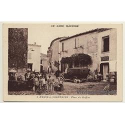 30114 Nages-Et-Solorgues / France: Place Du Griffon (Vintage...