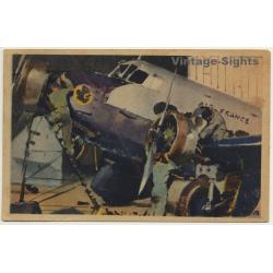 Air France: Révision Des Moteurs / Aviation (Vintage Artist...