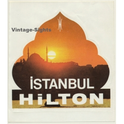 Turkey: Istanbul Hilton / Hotel (Vintage Self Adhesive Luggage...