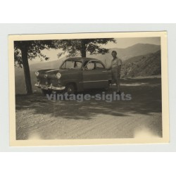Ford Taunus 12M 15M On Tour: In The Italian Mountains (Vintage Photo 50s)