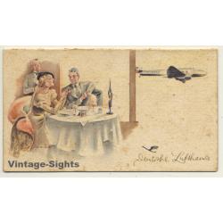 Deutsche Lufthansa: 1941 Tischkarte (Rare Vintage Illustrated...