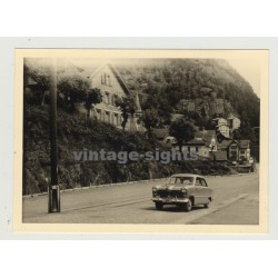 Ford Taunus 12M 15M On Tour: Driving Along (Vintage Photo 50s)
