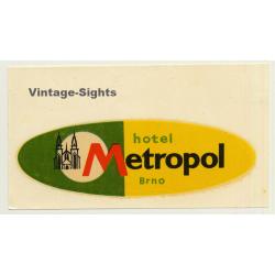 Brno / Czech Republic: Hotel Metropol (Vintage Roll On Luggage...