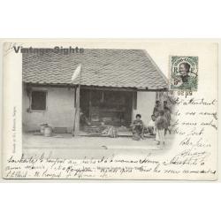 Laos: Magasin Laotien à Vién-Tiane (Vientiane) (Vintage PC...
