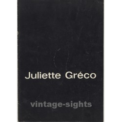 Juliette Gréco - Recital 1965/66 (Vintage German Concert Tour Booklet)
