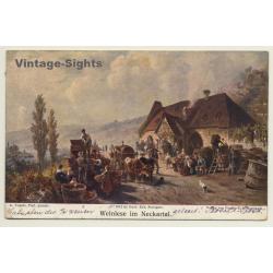 Germany: Weinlese Im Neckartal / Grape Harvest (Vintage PC...