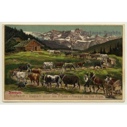 Sentum Alpe: Albfahrt / Away To The Alps - Cows (Vintage PC)