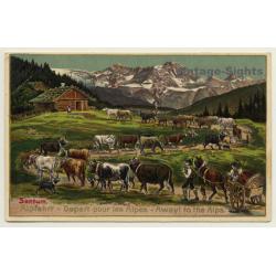 Sentum Alpe: Albfahrt / Away To The Alps - Cows (Vintage PC...