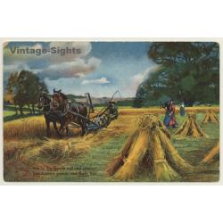 Germany: Horse Harvester / Pferde Mähdrescher - Kali (Vintage PC)