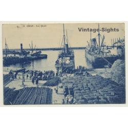 Oran / Algeria: Les Quais - Docks - Ships - Goods (Vintage PC...