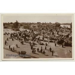 Place Djemma El Fna - Base Aérienne De Marrakech (Vintage RPPC...