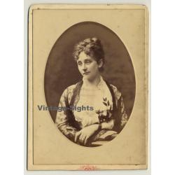 Dupont / Bruxelles: Portrait Of Mme De Donea (Vintage Cabinet...