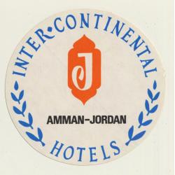 Amman / Jordan: Inter Continental Hotel (Vintage Self Adhesive...