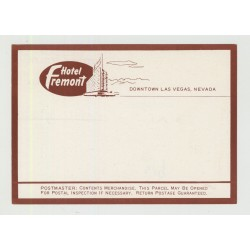 Hotel Fremont - Las Vegas / USA (Vintage Luggage/Postal Label)