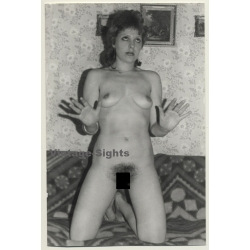 Punky Nude Woman In Funny Pose / Wallpaper (Vintage Photo GDR...