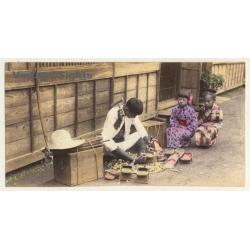 Japan: Shoemaker At Work / Wood Sandals - Geta 下駄 (Vintage...