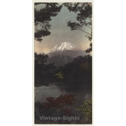 Japan: Mount Fuji / Fujiyama 富士山 (Vintage Hand Tinted Photo?...
