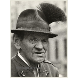 Portrait Of Old Bavarian Man / Traditional Hat - Gamsbart...