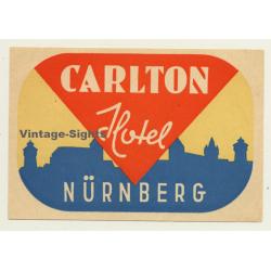 Nürnberg / Germany: Carlton Hotel (Vintage Luggage Label)