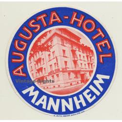 Mannheim / Germany: Augusta-Hotel (Vintage Luggage Label)