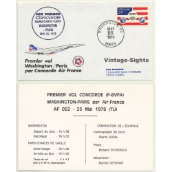 Air France / Concorde: Premier Vol Washington-Paris 25 Mai...