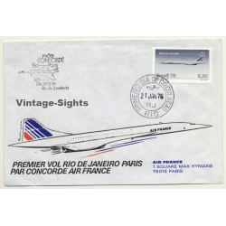 Air France / Concorde: Premier Vol Rio De Janeiro-Paris 21...