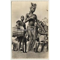 Female African Dancer / Topless - Drummer - Ethnic (Vintage...
