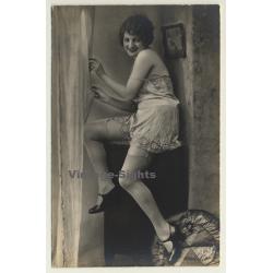 Studio Super / Paris: Sweet Woman In Bodice - Stockings /...