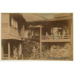 Japan: Geishas Outside Minka / Meiji Period (Vintage Hand...