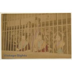 Japan: Yoshiwara Prostitutes Behind Bars - Harimise / Meiji...