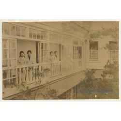 Japan: Geishas Looking Out Of Minka / Meiji Period (Vintage...