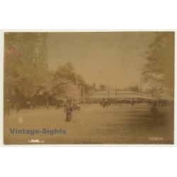 Japan: View Of Uyeno - Tokyo / Meiji Era (Vintage Hand Tinted...