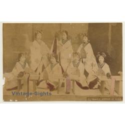 Japan: 53, Temple Dancer At Nara / Meiji Era (Vintage Hand...