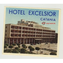 Hotel Excelsior - Catania / Italy (Vintage Luggage Label)