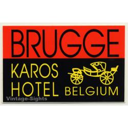 Brugge / Belgium: Karos Hotel (Vintage Self Adhesive Luggage...