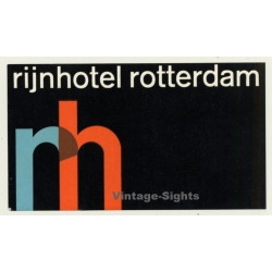 Rotterdam / Netherlands: Rijnhotel *2 (Vintage Luggage Label)