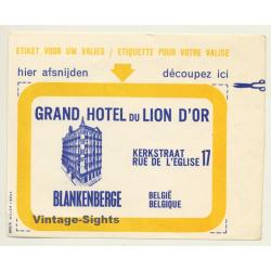 Blankenberge / Belgium: Grand Hotel Du Lion D'Or (Vintage...