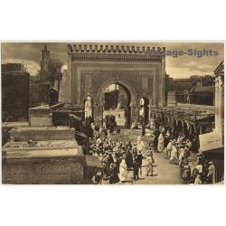 Fès - Fez / Morocco: Porte De Bou-Jeloud (Vintage Photogravure...