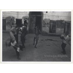 Tanzania: Local Kids In Motion / Cartwheel - Ethno (Vintage...