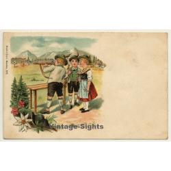 Kids In Bavarian Costumes / Air Rifle - Aunt Sally (Vintage...