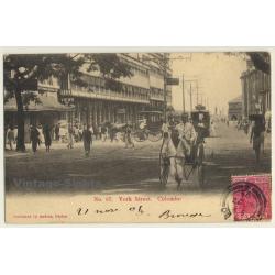 Ceylon / Sri Lanka: York Street, Colombo - Rickshaw (Vintage...