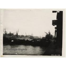 France: Port De Rouen / Port Maritim - Boats - Cargo (Vintage...