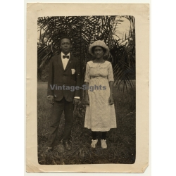 Africa: Portrait Of Young Indigenous Couple / Best Clothes...