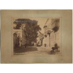 Pascal Sébah (1823-1886): Rue Nubar Pacha - Cairo / Egypt...