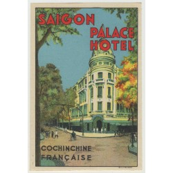 Palace Hotel - Saigon / Vietnam (Vintage Luggage Label)