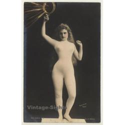 Blonde Semi Nude With Hand Mirror / Reutlinger - Belle Epoque...
