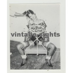 Art Of Ropes 3: Tall Beauty Tied To Chair - BDSM - Hair Pulling (Vintage Amateur Photo)
