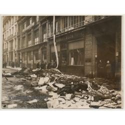 Paris / France: Fire At Rue D'Uzès / Brach & Blum (Vintage...