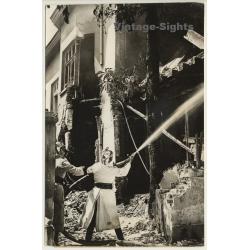 Sofia / Bulgaria: Explosion At Jägerheim / Fire Fighters...